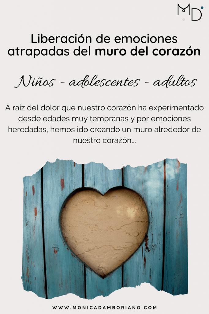 liberacion de emociones atrapadas del muro del corazon