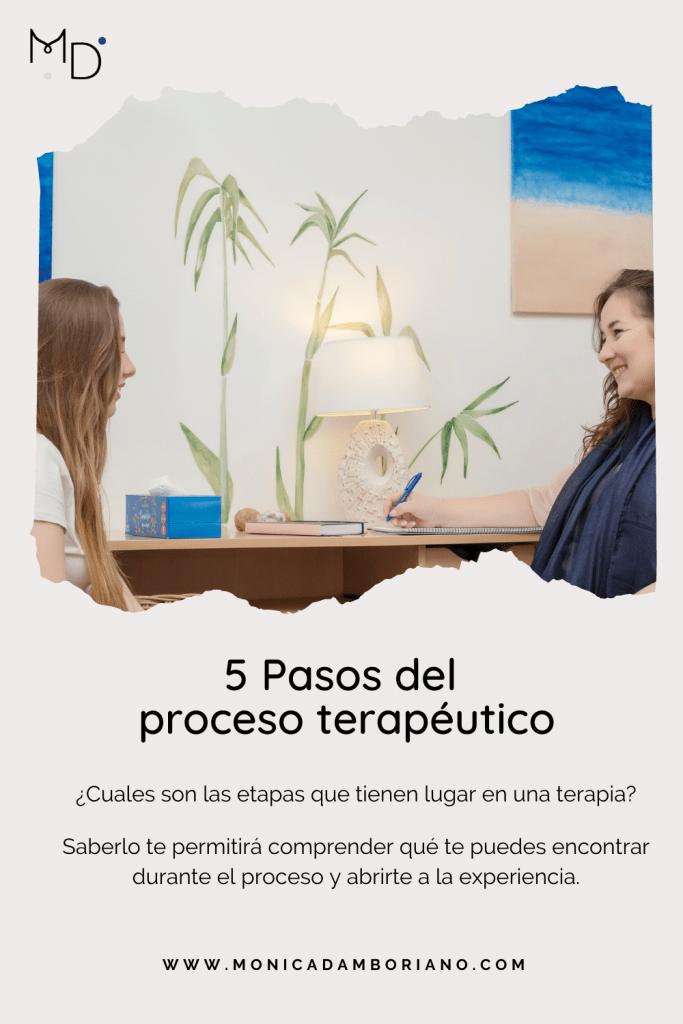 5 Pasos del proceso terapéutico